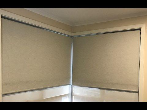 How To Measure Single Roller Blinds For A Corner Window Inside Mount Roller Blinds Window Roller Blinds Corner Window
