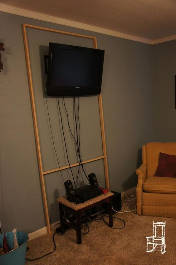 hiding cables at an apartment where you probably shouldn't be making extra holes in the wall: