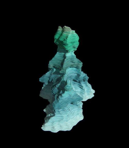 Jennifer Rose Sciarrino: paper sculptures