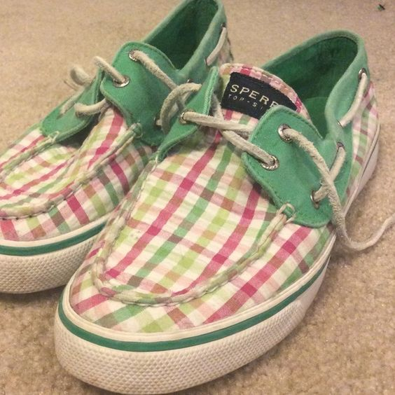 Plaid Sperrys Great condition. Sperry Top-Sider Shoes Sneakers
