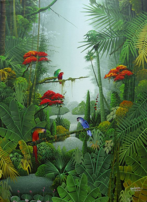 rainforest art by mahinui on celebrate National Rain Forest Week