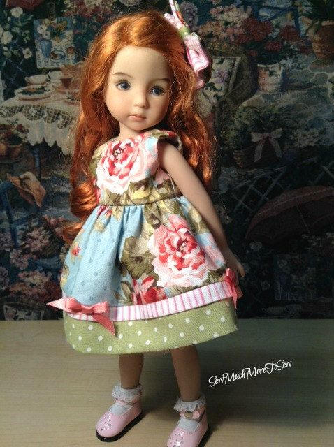 Dianna Effner Little Darling Doll Floral by SewMuchMoreToSew: