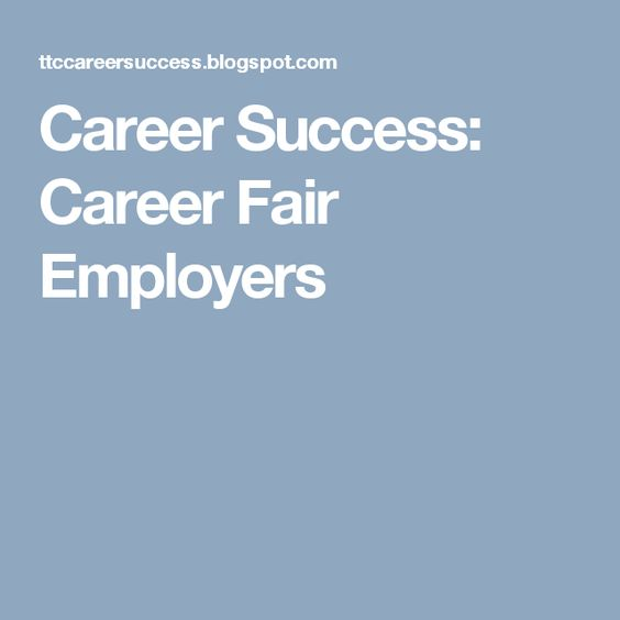Career Success Career Fair Employers RESUME Pinterest Career - resume for career fair