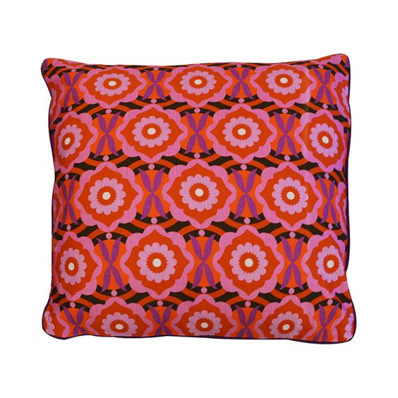 Taking a cue from ancient Indian motifs, our Cardamom Color Pop Pillow features a repeating block print-inspired pattern in a punchy colorway. The result? A spicy, contemporary pick-me-up for your couc...  Find the Cardamom Color Pop Pillow, as seen in the #PerfectlyDistressed Collection at http://dotandbo.com/collections/perfectlydistressed?utm_source=pinterest