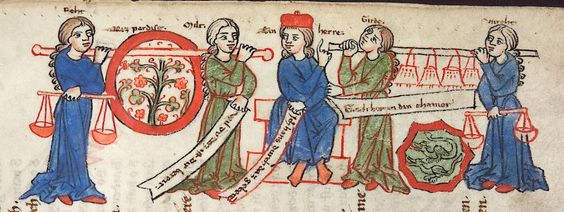 Cod. Pal. germ. 389 Thomasin <Circlaere>   Welscher Gast (A) — Bayern (Regensburg?), um 1256 Folio 126r