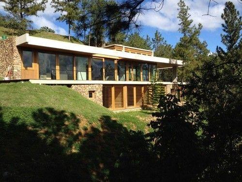 maison semi enterr e bois et pierre rd house par vasho