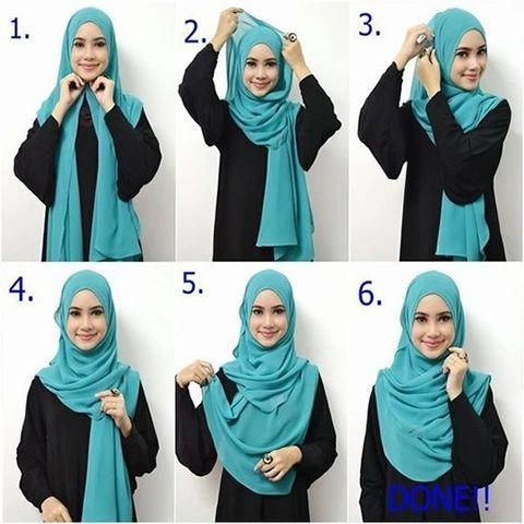 Hijab Simple And Easy Step By Step Modern Hijab Tutorial Affordable Hijabusa Stylish Hijab Hijab Style Tutorial Hijab Fashion