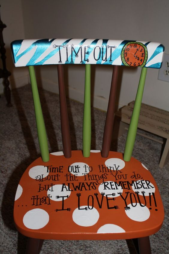 cute, ill be making one of these!: Good Ideas, Cute Ideas, Timeoutchair, Time Out Chair, I Will, Timeout Chair, Kiddo
