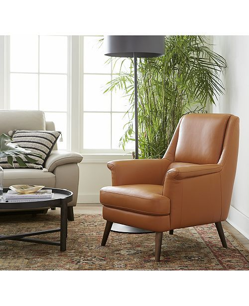 Furniture Milany Leather Accent Chair Created For Macy S