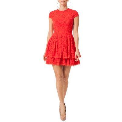 vestido regata vermelho todo de renda - Pesquisa Google