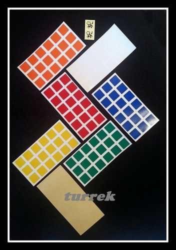 adesivo para cubo magico stickers 3x3x3 dayan frete grátis