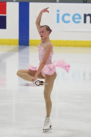Polina Edmunds, Ladies free at U.S. International Classic 2014, Pink Figure Skating / Ice Skating dress inspiration for Sk8 Gr8 Designs