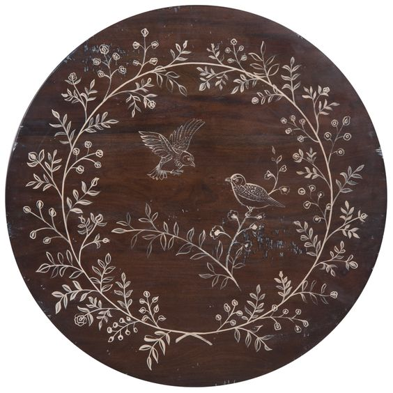 Birds And Branches Entry Table - cottage style
