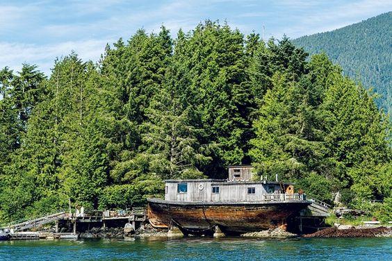 Ship cabin On the coast of british columbia, canada