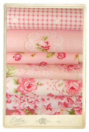 Hillfarm pink Eiderdown fabrics    I love roses!