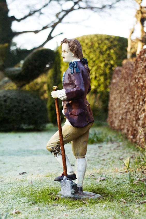 Antique Gardener Statue Sir Roy Strong Garden