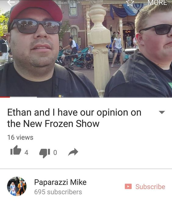 So Ethan and myself gave our opinion on the New Frozen Show.  Check it out on my YouTube channel Paparazzi Mike Disclaimer (This is only our opinion that's all. We are not experts on the Theater arts nor claim to be) by paparazzi_mike