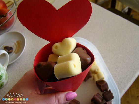 Walentynkowe czekoladki - DIY - Mama-Kreatywna