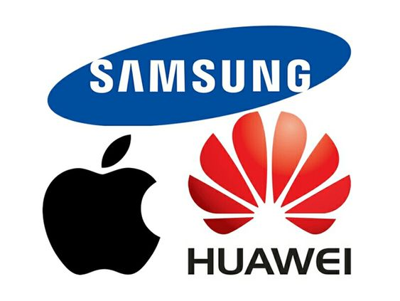 Huawei closes in on Samsung and Apple's dominance.