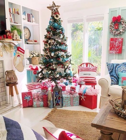 Christmas Living Room Decor Ideas Accent Decorations Trees Mantels More Christmas Decorations Living Room Coastal Christmas Decor Christmas Living Rooms