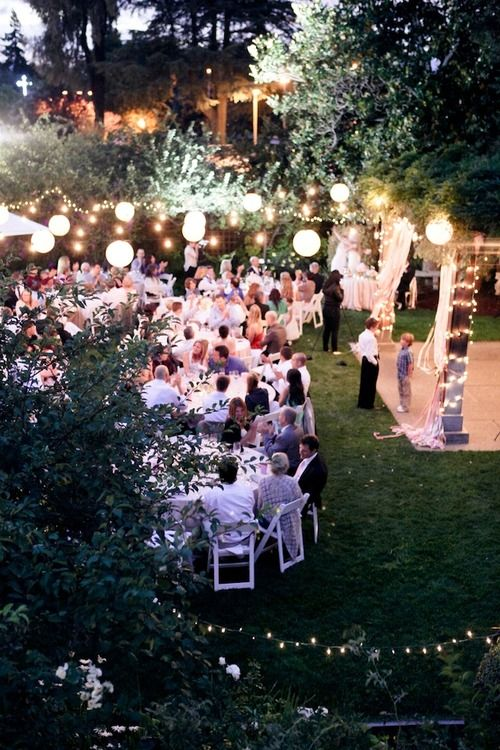 Fairy Lights Outdoor Weddings :  outdoor wedding reception fairies lighting outdoor lighting outdoor