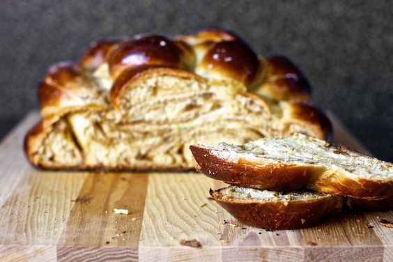 fig, olive oil and sea salt challah, sliced by smitten, via Flickr