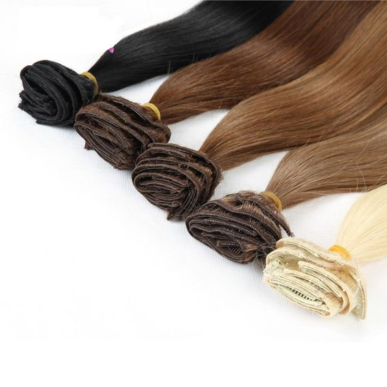 16 Color Available Brazilian Hair Clip In Human Hair Extensions 7pcs Full Head Set Rita Hair Clips Aplique Tic Tac Cabelo Humano - Virtual Store USA