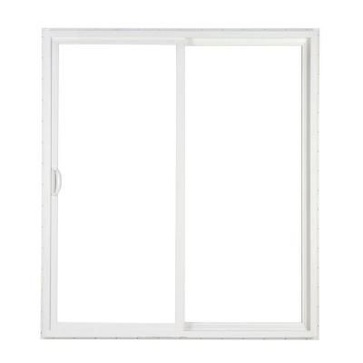 Simonton 72 In X 80 In 2 Panel White Contemporary Sliding Patio Door With Prosolar Shade Lowe