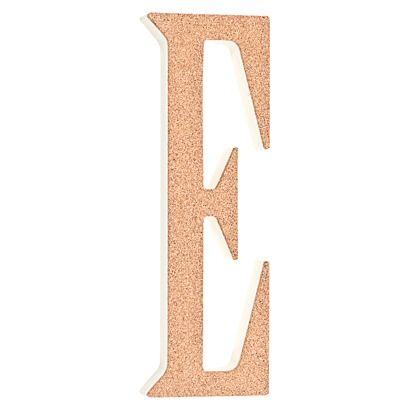 Twelve Timbers Cork Letter E