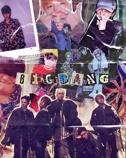 Bigbang Retro Collage Bigbang Wallpapers Kpop Posters Bigbang