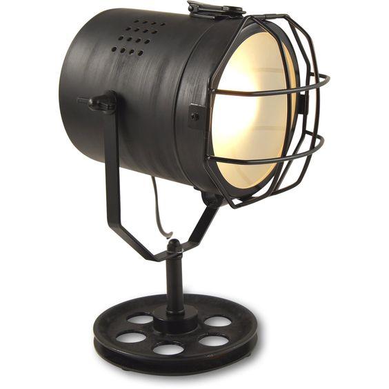 MOJO Industrial Chic Tischlampe Retro Vintage Deko Lampe Tischleuchte l45: Amazon.de: Küche & Haushalt