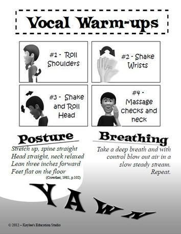 Vocal Warm-ups handout - for choir teachers. - Kaylee's Education Studio