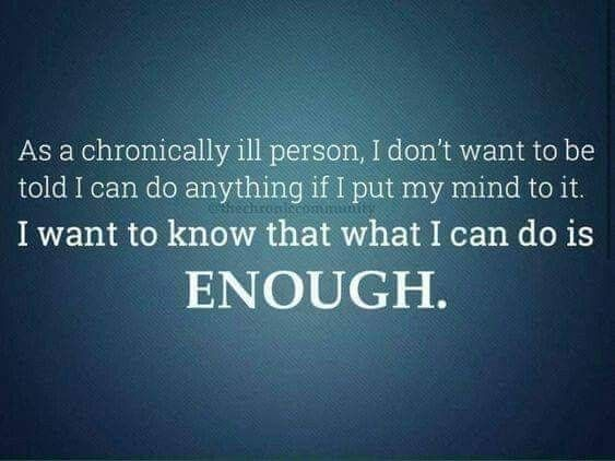Chronically ill person