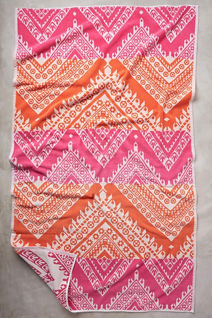 colorful printed beach towel