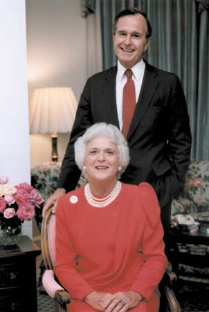 Bush, George; Bush, Barbara President from 1989-1993..Great people of Texas!