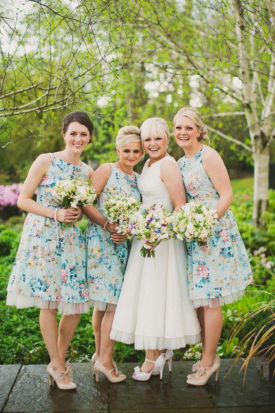 vestido floral - amigas da noiva