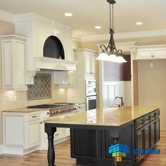 Details about Antique White Cabinets - RTA Cabinets - 10X10 All ...