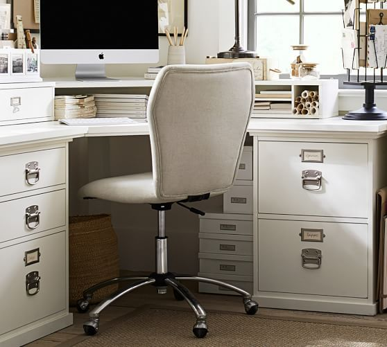 Bedford Corner Desk With Drawers Pottery Barn In 2020 Home Office Design Desk With Drawers Corner Desk