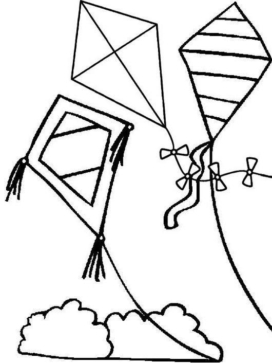 Easy Kites Coloring Page For Kids Snowman Coloring Pages Coloring Pages Zoo Coloring Pages