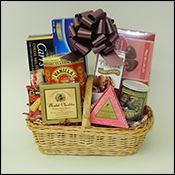 Gift Baskets made by Heavenly Temptations, located at 712 Main Street, Boonton, NJ. Make your gift giving easier and more personal by giving a corporate gourmet food gift basket. We design and hand make each and every corporate gift basket in our store. We will pack and ship or deliver your orders anywhere in the continental U.S. All gift baskets from Heavenly Temptations are shrink wrapped with a bow and a gift card attached.  #Boonton #NJ #GiftBasket #Gift