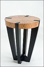 Wood Side Table by Enrico Konig