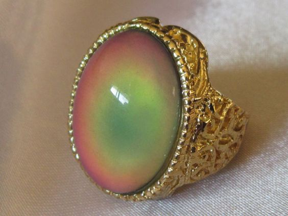 How Mood Rings Work. Mood Rings contain thermotropic liquid crystals inside the stone or the band of the mood ring.