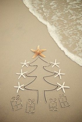 Chrismas at the Beach #iphone wallpaper