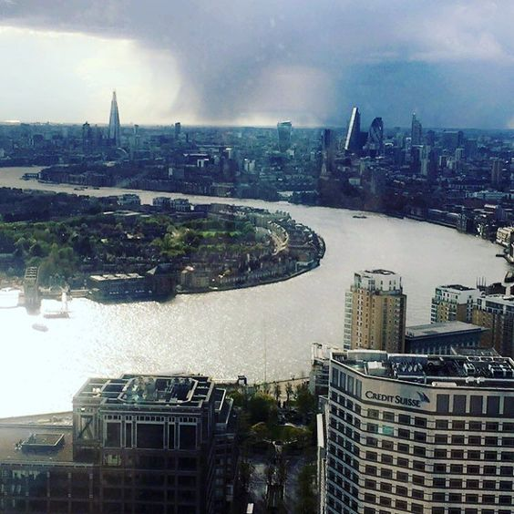 View from my desk #london #thames #bony #clouds by hollie_jane21