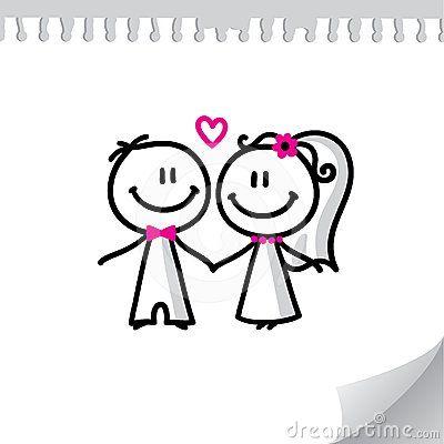 Imagem de http://thumbs.dreamstime.com/x/pares-do-casamento-dos-desenhos-animados-24609530.jpg.