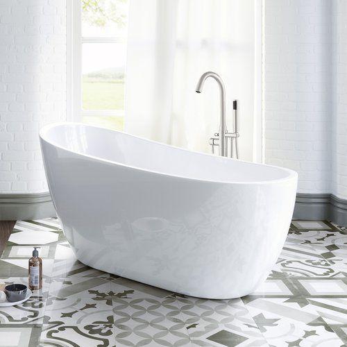 54 X 29 Freestanding Soaking Bathtub Bathroom Freestanding Free Standing Bath Tub Soaking Bathtubs
