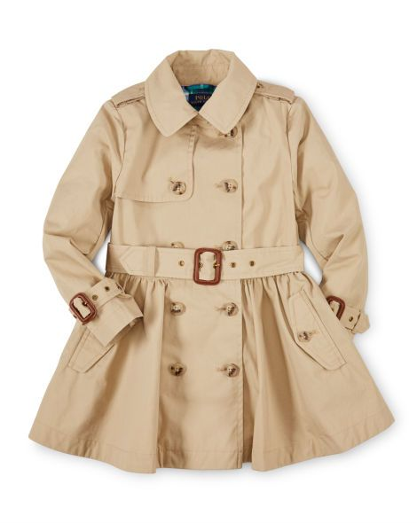 Princess Cotton Trench Coat - Girls 2-6X Outerwear &amp Jackets
