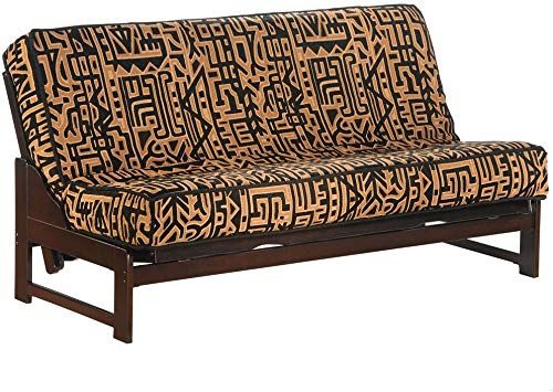 New Night Day Furniture Eureka Queen Futon Frame Chocolate