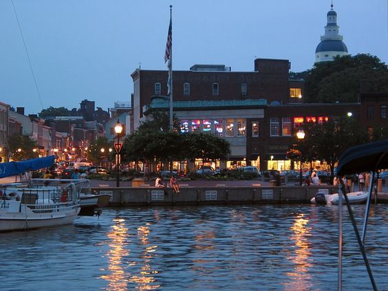 End of daylight @ Annapolis pier