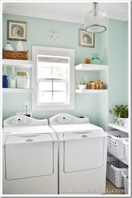 seafoam laundry room